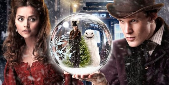 Clara and the Doctor in the 2012 Christmas Special